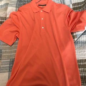 Orange thin dry fit polo